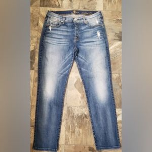 7 For All Mankind Josefina Boyfriend SkinnyJeans